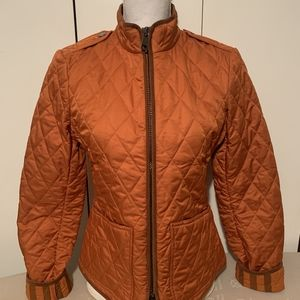 Burberry women's diamond quilted jacket small